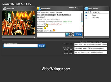 Live Streaming PHP Webcam Script